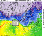airmass contains contrasting temps