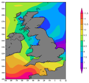 warm SSTs off Scotland feed the polar low