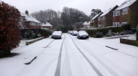 brief snow Reigate 31 Jan 2015