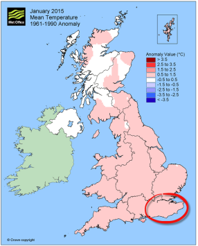 Jan 2015 about average temp