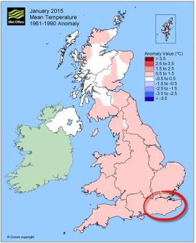 Jan 2015 about average temp