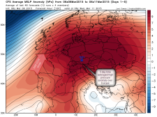 anomalous HIGH pressure over Europe