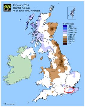 rainfall february 2015
