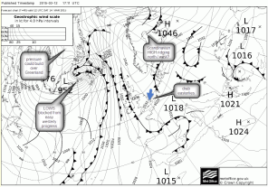 UKMetOffice chart easterly winds