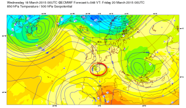 shallow low on ECM chart