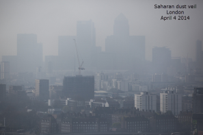 dust haze in London