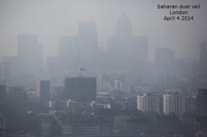 dust haze in London