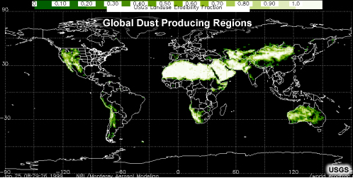 global dust source regions