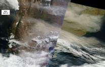 dust from April 2015 Calbuco eruption