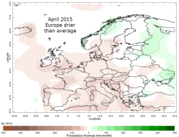 April 2015 dry up Europe
