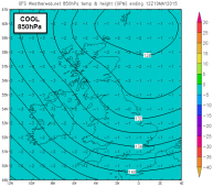 milder air at 850hPa