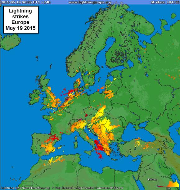 Euro lightning