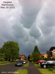 mammatus cloud over Reigate