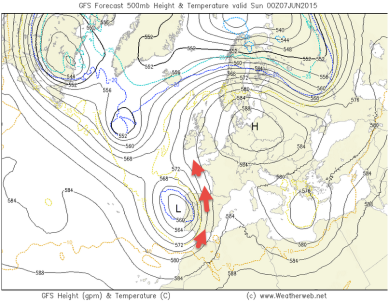 GFS cuts-off Iberian LOW