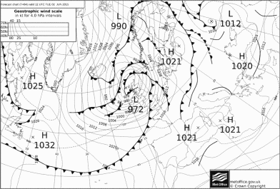 unseasonably LOW pressure for June