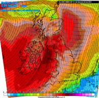 gales for NW Monday
