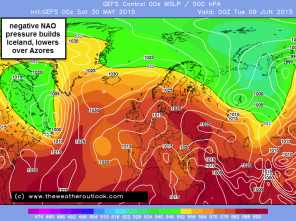 typical synoptic showing more negative NAO