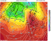pattern for thundery heat Saturday