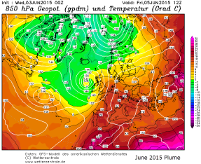 850hPa temperatures spanish plume 2015 June 03