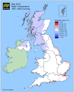 May temp average to just below