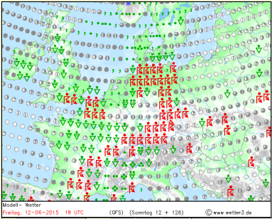 thundery showers possible