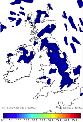 scattered showers in HIGH pressure