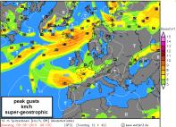 super-geostrophic winds round the HIGH