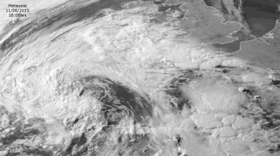 Meteosat pic shows tstorms