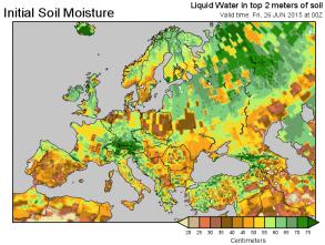 Euro soil moisture chart