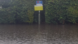 car parks flooded