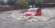 Morrisons flooded car park