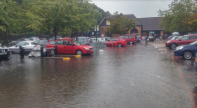Morrisons car park Reigate flood