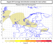 August surface mean SE flow