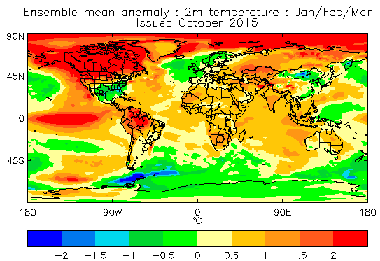 Mean 2 metre temperature anomaly for Jan/Feb/Mar