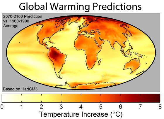 global warming prediction