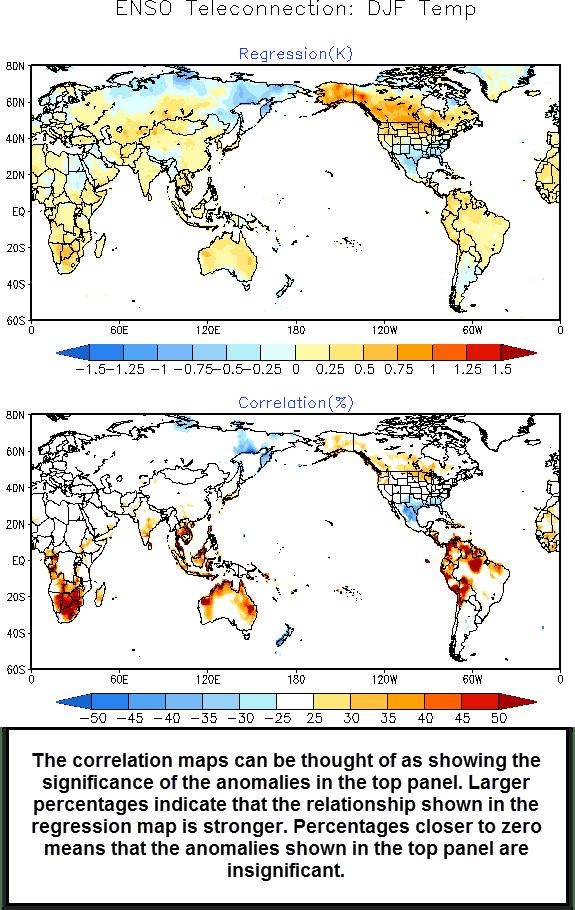 El Nino: Winter temperature impacts