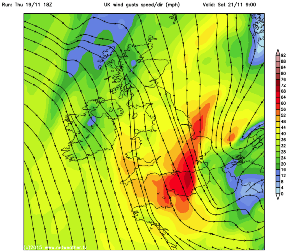 strong winds and gales on coast