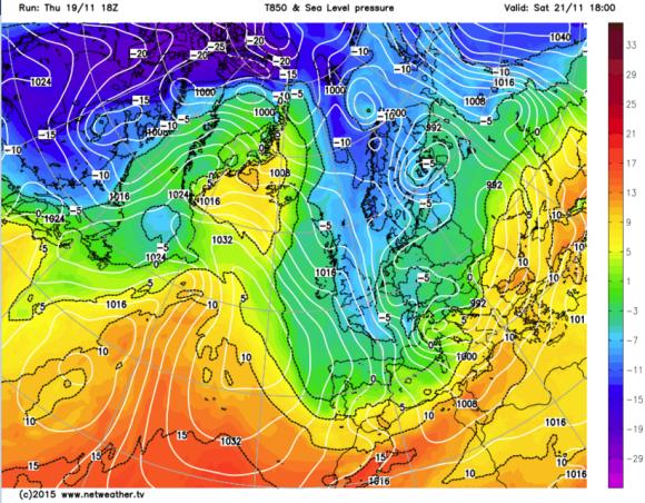 Arctic plunge for November