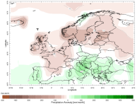 Europe rainfall anomaly October 2015