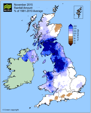 UK rainfall anomaly November 2015