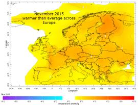 Europe November anomaly