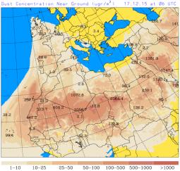 dusty forecast 17 Dec 2015