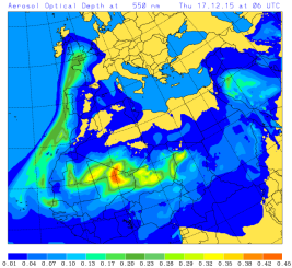 aerosol optical depth 17 Dec 2015