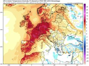 December 17 temperature anomalies