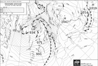 Storm Frank synoptic chart