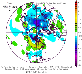 Jan MJO Phase 2 +ENSO surface temp