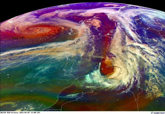 EUMetSAT steep temperature gradients