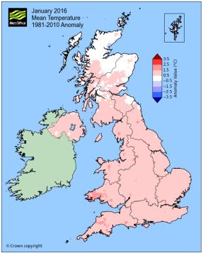 Jan 2016 warmer than usual