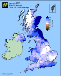 total rainfall Jan 2016 metoffice anomaly