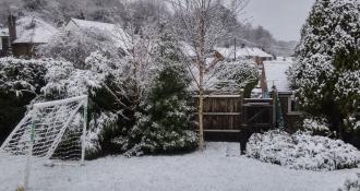 Reigate brief wet snow 17 Jan